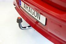 Trekhaak horizontaal afneembaar Nissan Pixo 5 deurs 2009-
