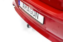 Trekhaak horizontaal afneembaar Nissan Tiida 5 deurs 2008-